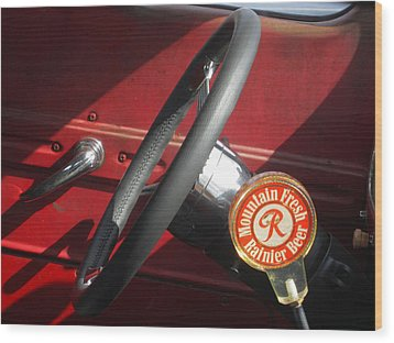 Wood Print featuring the photograph Rainier Stick Shift  by Kym Backland