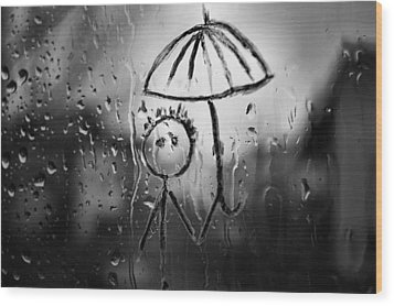 Raining Again Wood Print by Sunkies Fang