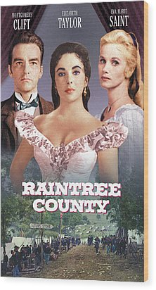 Raintree County, Montgomery Clift Wood Print by Everett