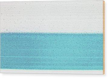 Rainy Day At The Beach Wood Print by James Mancini Heath