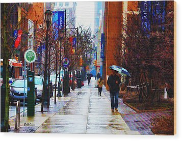 Rainy Day Feeling Wood Print by Bill Cannon