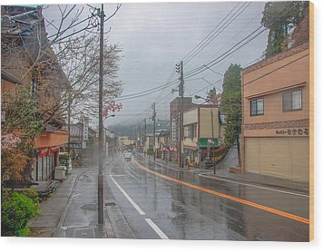 Rainy Day Nikko Wood Print