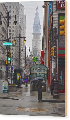 Rainy Days And Sundays Wood Print by Bill Cannon