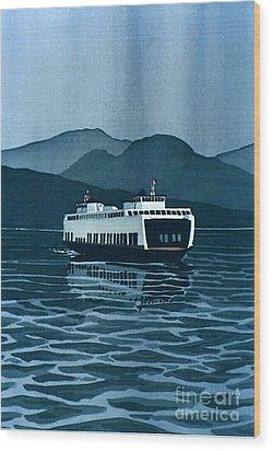 Rainy Ferry Wood Print by Scott Nelson