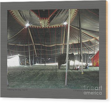 Raising The Big Top-iv Wood Print by Patricia Overmoyer