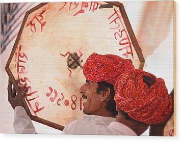Rajasthani Drummers Wood Print by Mostafa Moftah