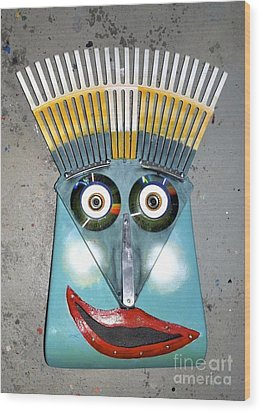 Rake Man Wood Print by Bill Thomson