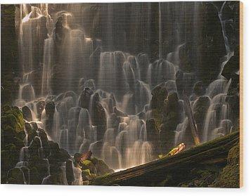 Ramona Falls Or   Wood Print by Ulrich Burkhalter