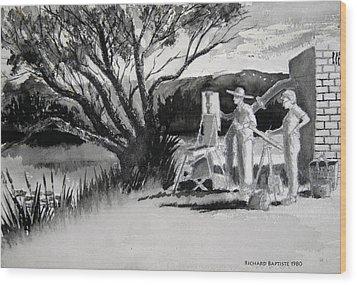 Randwick Wood Print by Richard Baptiste