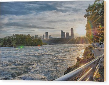 Wood Print featuring the photograph Rapids Sunset by Michael Frank Jr
