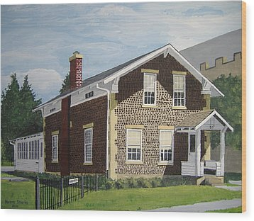 Wood Print featuring the painting Rasey House by Norm Starks