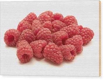 Raspberries Wood Print by Fabrizio Troiani