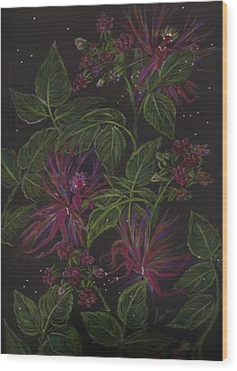 Raspberry Hunting Wood Print by Dawn Fairies