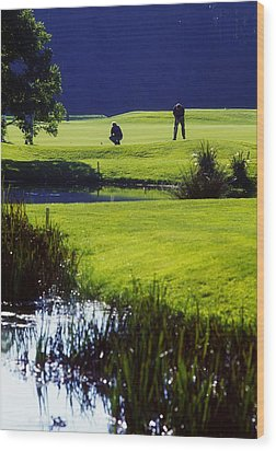 Rathsallagh Golf Club, Co Wicklow Wood Print by The Irish Image Collection