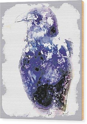 Raven Wood Print by The Art of Marsha Charlebois