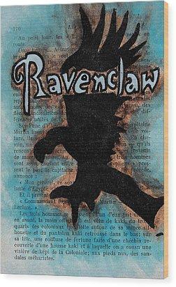 Ravenclaw Eagle Wood Print by Jera Sky