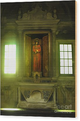 Ravenna Italy - Sant Apollinare Nuovo - Jesus Christ Wood Print by Gregory Dyer