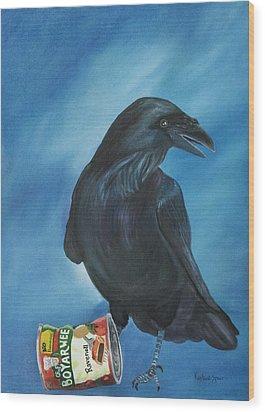 Ravenoli Wood Print by Amy Reisland-Speer