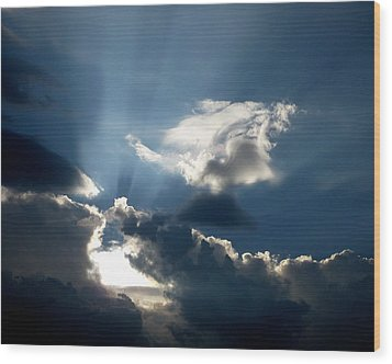 Rays Of Light Wood Print by Mark Dodd