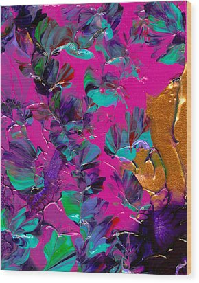 Razberry Ocean Of Butterflies Wood Print by Nan Bilden