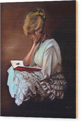 Reading Wood Print by Joyce Reid