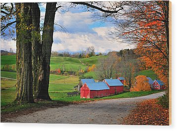Reading Vermont - Jenne Road Wood Print by Thomas Schoeller