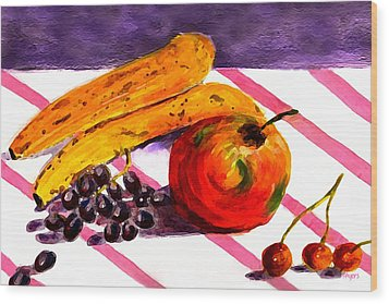 Wood Print featuring the painting Ready-to-eat by Paula Ayers