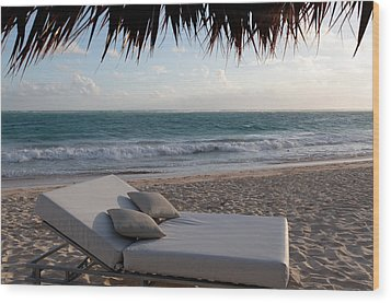 Wood Print featuring the photograph Ready To Relax On A Tropical Beach by Karen Lee Ensley