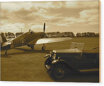 Wood Print featuring the photograph Ready To Scramble - Spitfire by John Colley