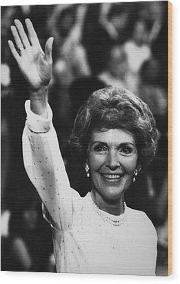 Reagan Presidency. Future First Lady Wood Print by Everett