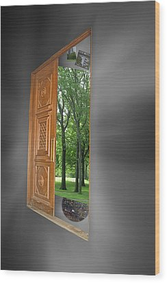 Wood Print featuring the photograph Reality by Sarah McKoy