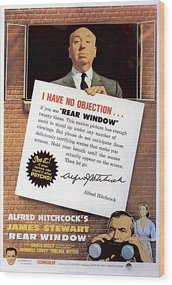 Rear Window, Alfred Hitchcock, James Wood Print by Everett