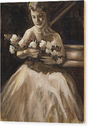 Recital Wood Print by Billie Colson