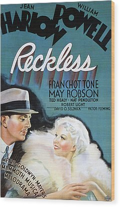 Reckless, William Powell, Jean Harlow Wood Print by Everett