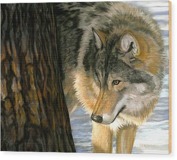 Wood Print featuring the painting Reclaiming The Wild by Sheri Gordon