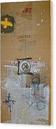 Recycle  Wood Print by Cliff Spohn