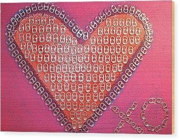 Recycled Love Wood Print by James Briones
