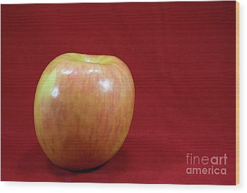 Wood Print featuring the photograph Red Apple by Michael Waters