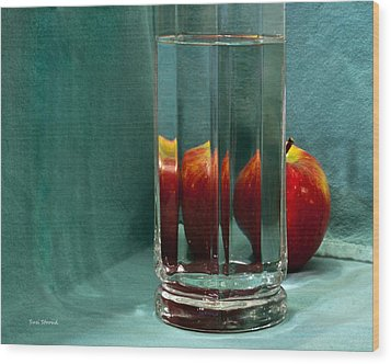 Wood Print featuring the photograph Red Apple by Susi Stroud