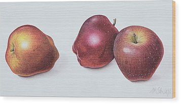 Red Apples Wood Print by Margaret Ann Eden
