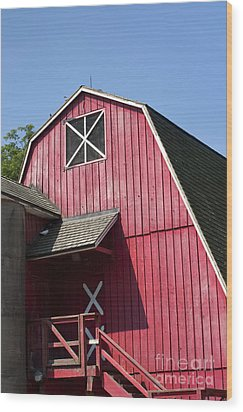 Red Barn Wood Print by Blink Images