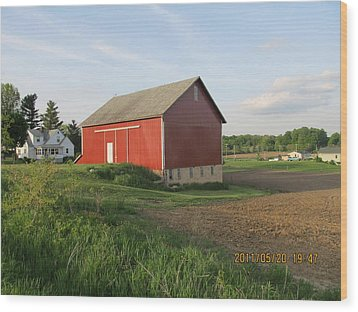 Wood Print featuring the photograph Red Barn Four by Tina M Wenger