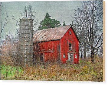 Wood Print featuring the photograph Red Barn by Mary Timman