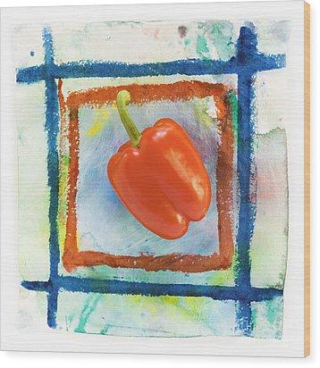 Red Bell Pepper Wood Print by Igor Kislev