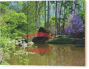 Wood Print featuring the photograph Red Bridge by Bob Whitt