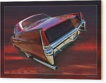Red Cadillac Wood Print by Blake Richards