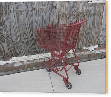 Red Cart 2 Wood Print by Todd Sherlock
