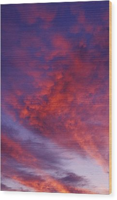 Red Clouds Wood Print by Garry Gay