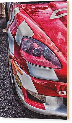 Red Corvette Wood Print by Lauri Novak