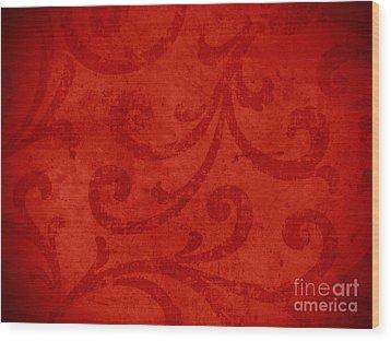 Red Crispy Oriental Style Decor For Fine Design. Wood Print by Marta Mirecka